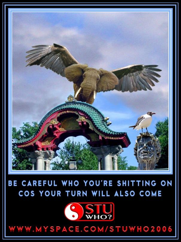 eaglephant-piss-on
